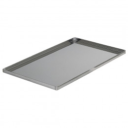 Baking tray straight edges, stainless steel