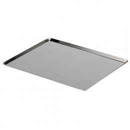 Plaque de cuisson GN bords pincés inox