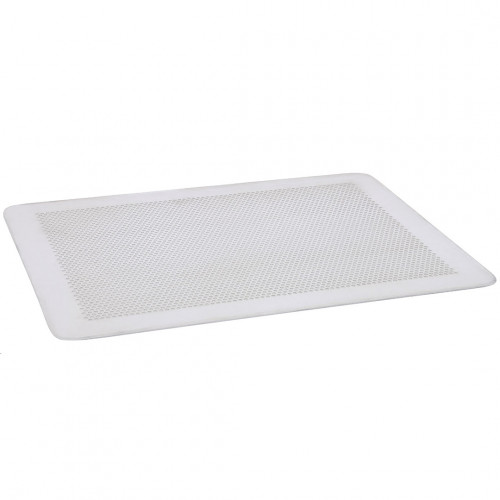 Flat baking tray, microperforated