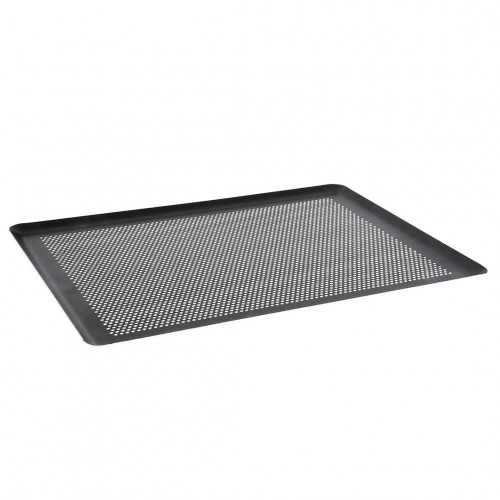 Non-stick baking tray, microperforated