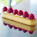 Oblong tart ring Ht 2 cm VALRHONA, perforated stainless steel
