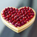 Heart tart ring Ht 2 cm VALRHONA, perforated stainless steel