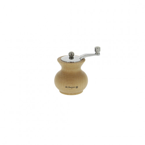 Salt mill with handle wood 7 cm BOOGIE