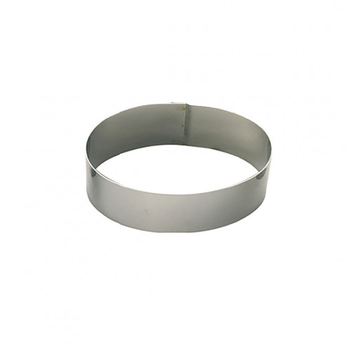 Ring, stainless steel, oval Ht 4,5 cm