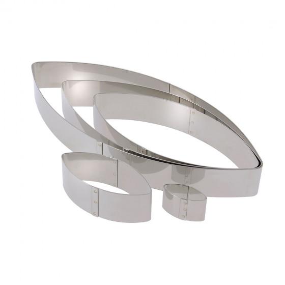 Cercle à pâtisserie inox, forme calisson Ht 4 cm