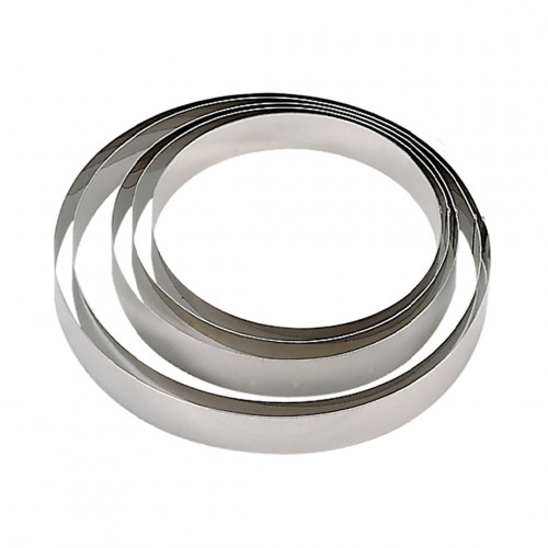 Cercle à entremets rond inox Ht 4,5