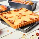 Moule à tarte carré à fond amovible, acier antiadhésif