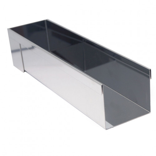 Rectangular long mould, stainless steel
