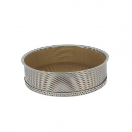 Round cake mould and non-stick baking sheets, perforated stainless steel