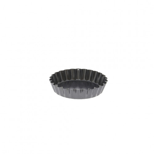 Tartlet round fluted mould, non-stick steel