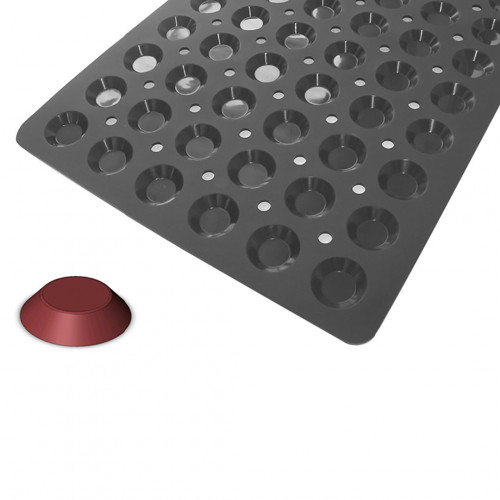 Tray 60 tartlet moulds MOUL FLEX PRO, silicone