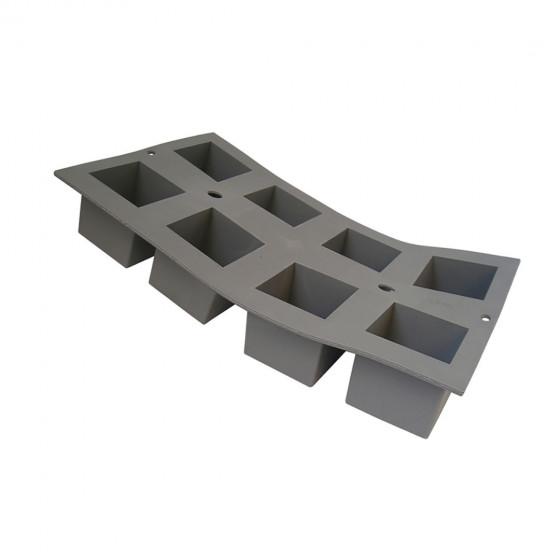 Plaque 8 cubes 5 cm ELASTOMOULE, mousse de silicone