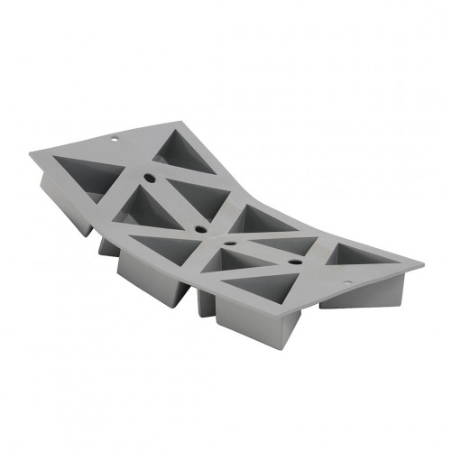 Plaque 10 triangles ELASTOMOULE, mousse de silicone