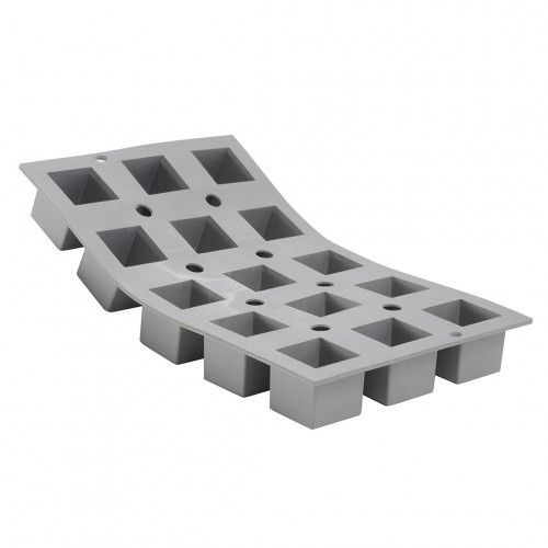 Tray 15 small cubes 3,5 cm ELASTOMOULE, silicone foam