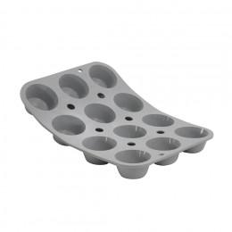 Tray 15 mini muffins Pomponette ELASTOMOULE, silicone foam