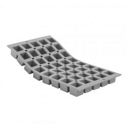 Plaque 40 mini cubes 2,5cm ELASTOMOULE, mousse de silicone