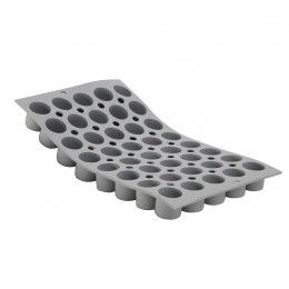 Tray 40 mini cylinders ELASTOMOULE, silicone foam