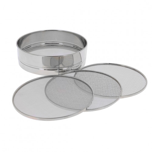 Sieve 4 removable meshes, stainless steel
