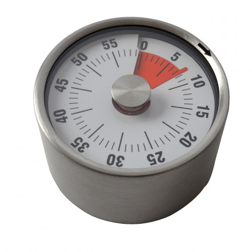 Timer, stainless steel