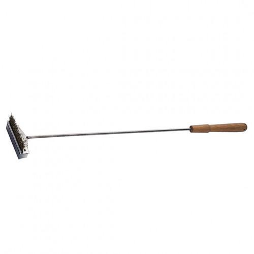 Scraper brush for oven