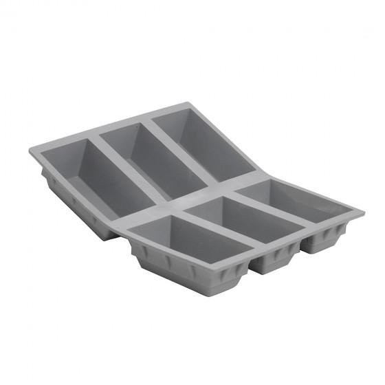 Tray rectangular cakes ELASTOMOULE, silicone foam