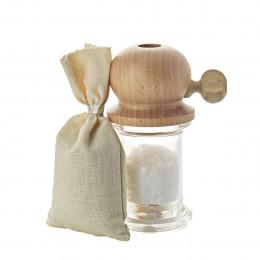Moulin à gros sel gris bois 12 cm PITOULEE